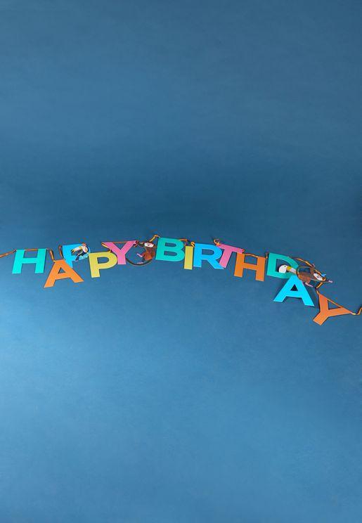 Party Animals Happy Birthday Garland