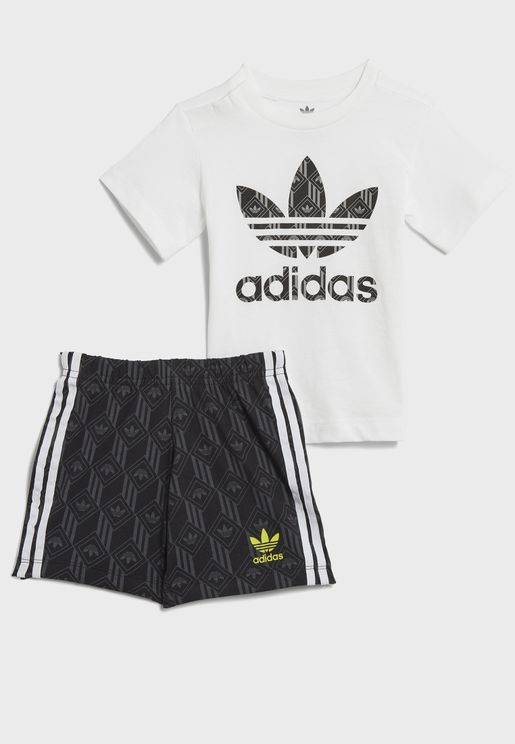 Short Set All Over Print Casual Children Jogger