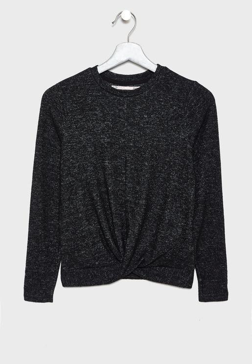 Kids Textured Sweatshirt