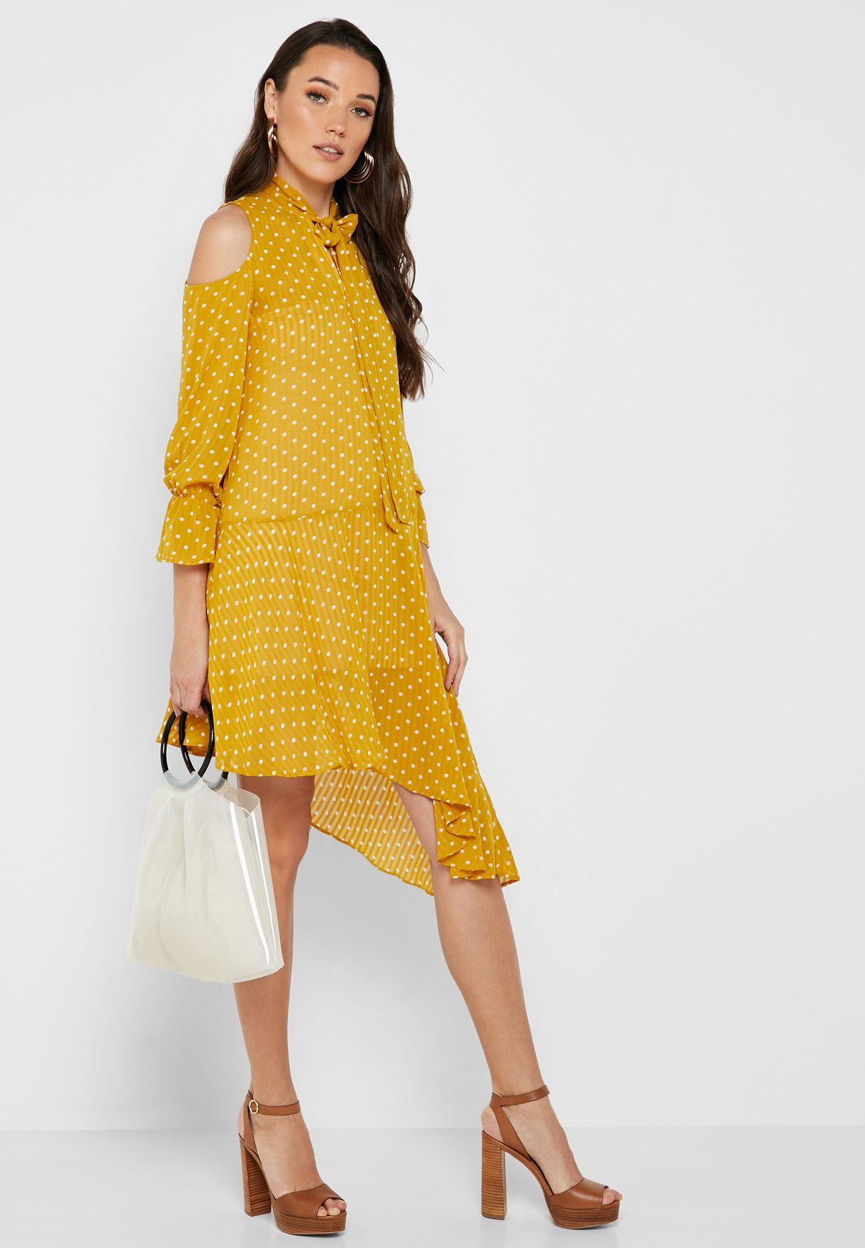 فستان بطباعة نقاط بولكا