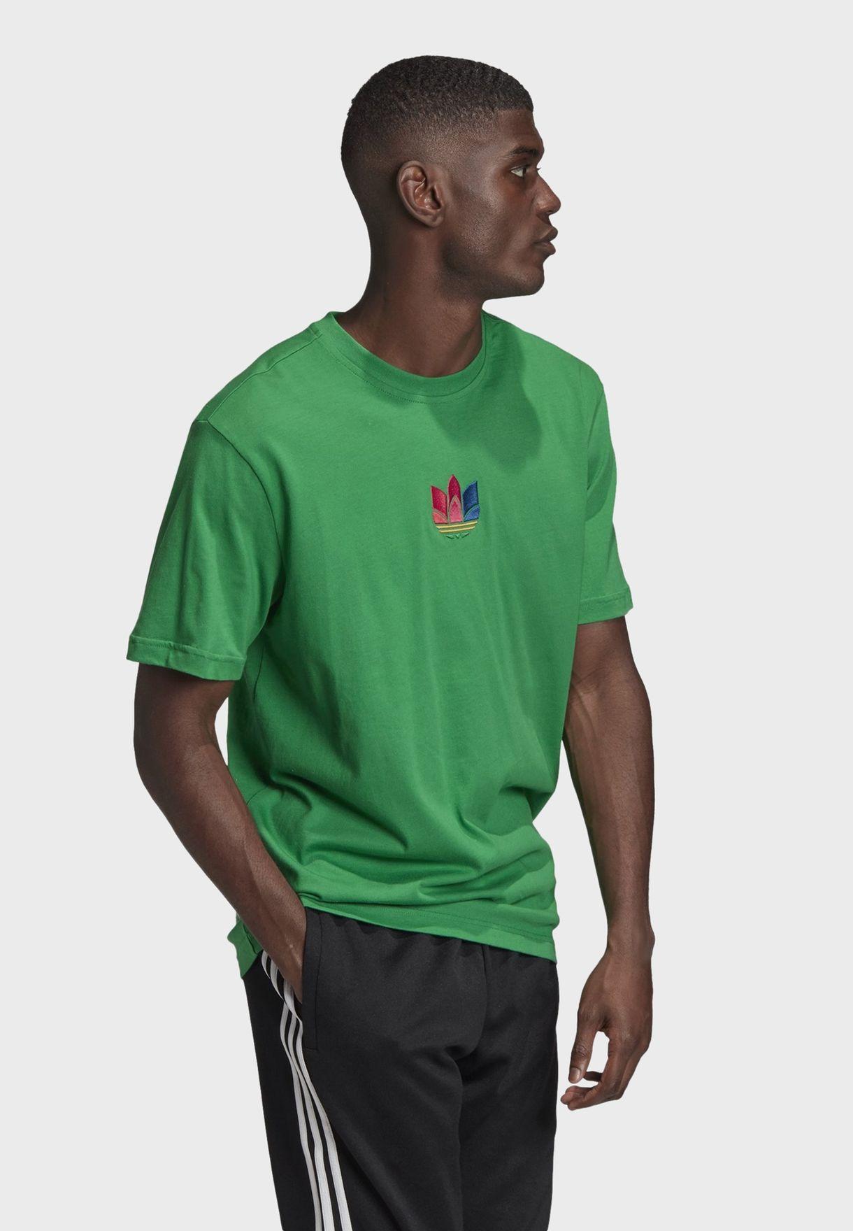 3D Trefoil Adicolor Casual Men's T-Shirt