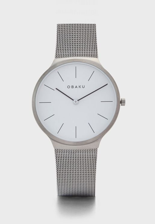Ark Mesh Strap Analog Watch