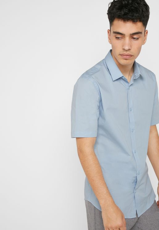 قميص بياقة كلاسيك