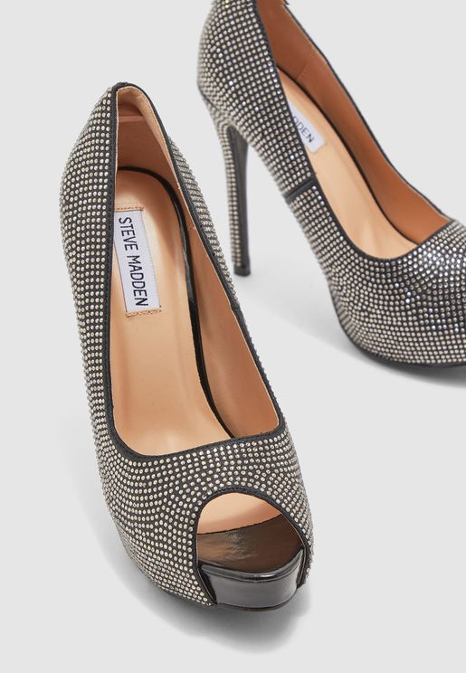 Marlin High Heel Peep Toe Pump