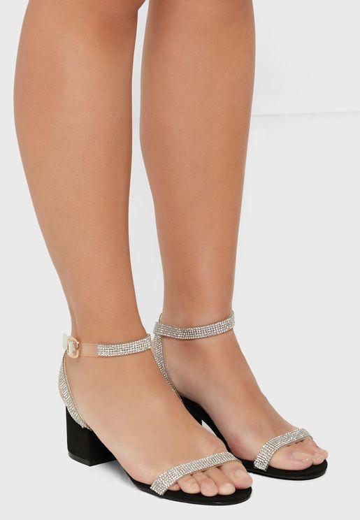 Hallie Block Pu Sandals