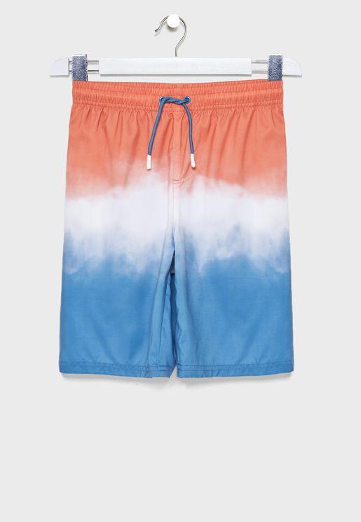 Teen Color Block Swim Shorts