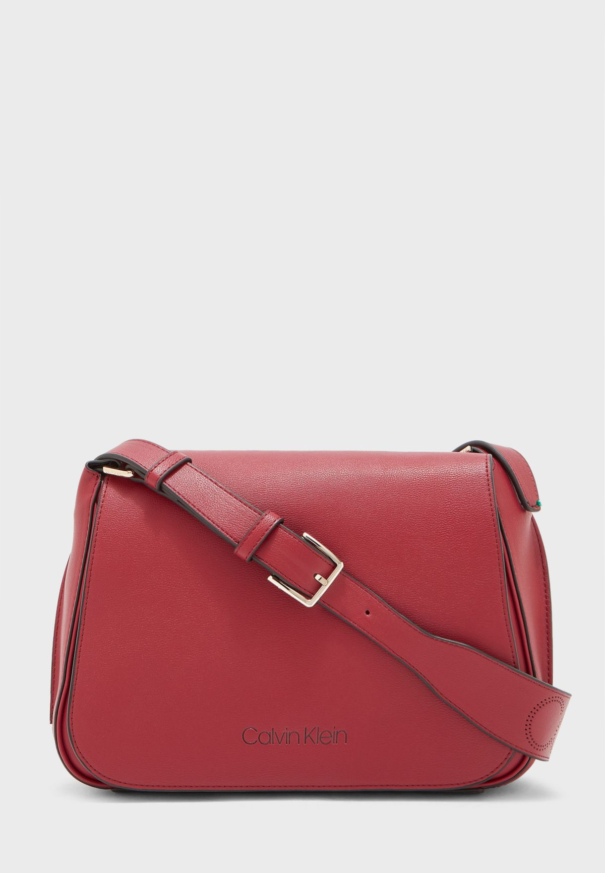 Punched Flap Over Belted Crossbody