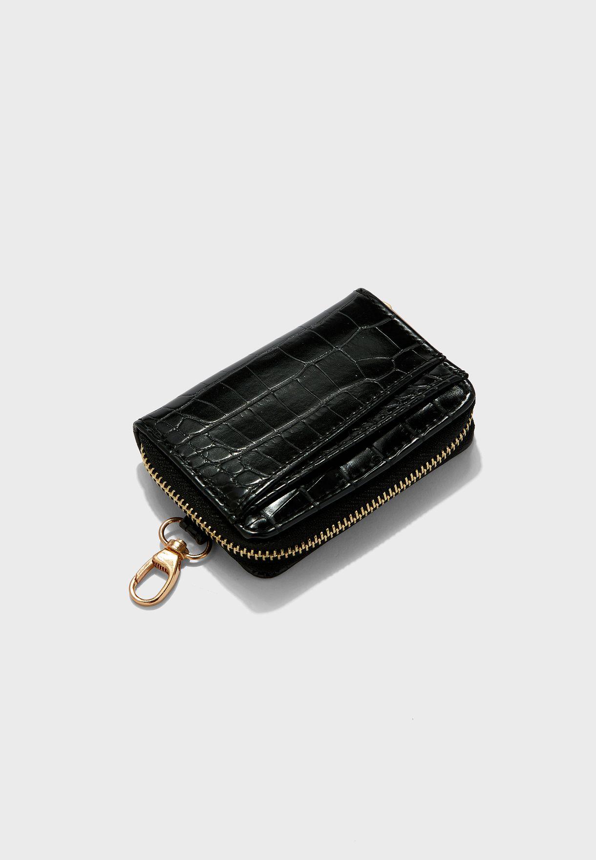 محفظة وحمالة مفاتيح