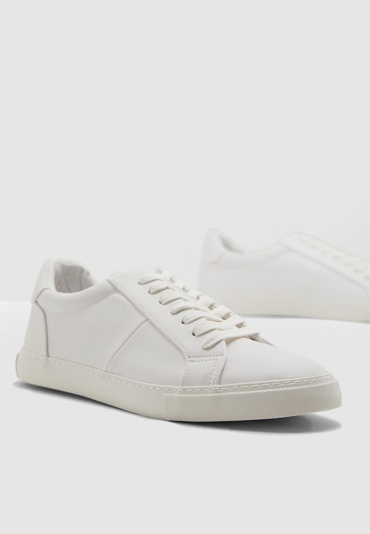 Buy Topman white Henri Lace Trainer for
