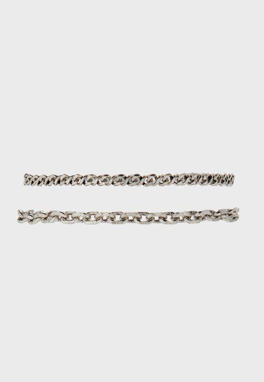 2 Pack Chain Bracelet