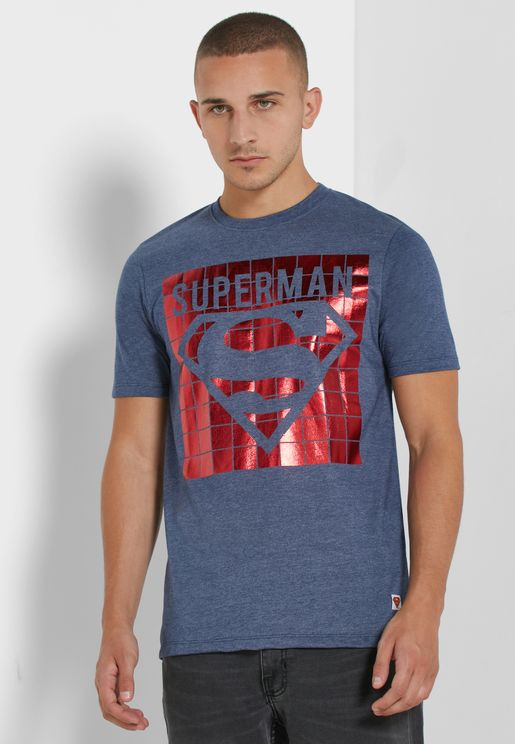 Superman Red Foil T Shirt