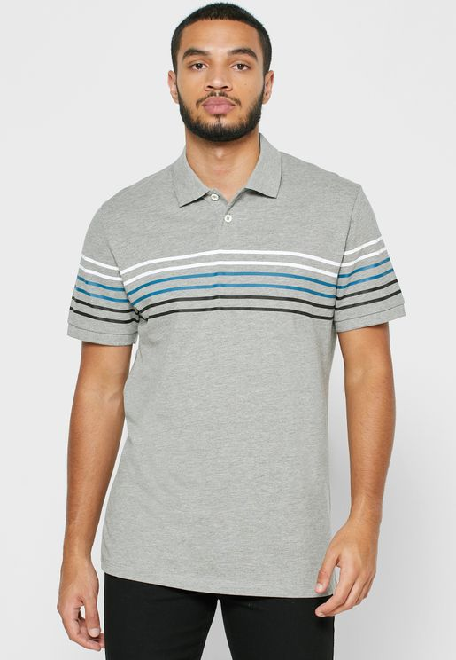 Jonathan Chest Stripe Polo
