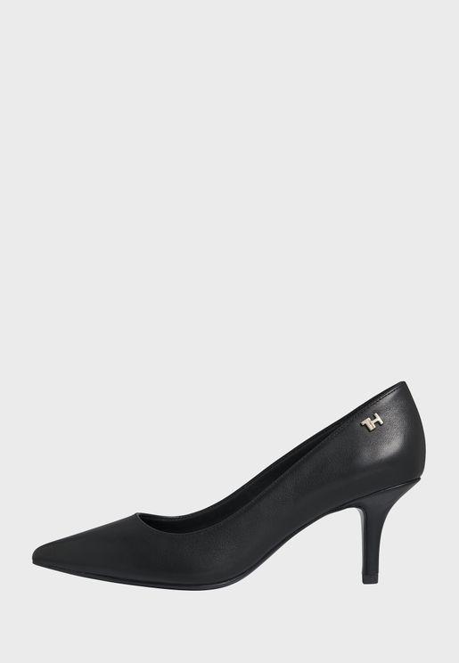 Essential Leather High Heel Pump