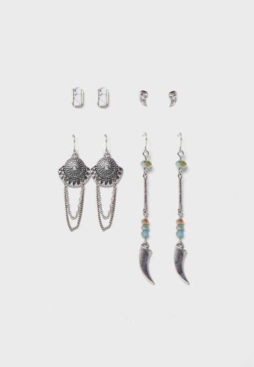 Multipack Droplet Earrings