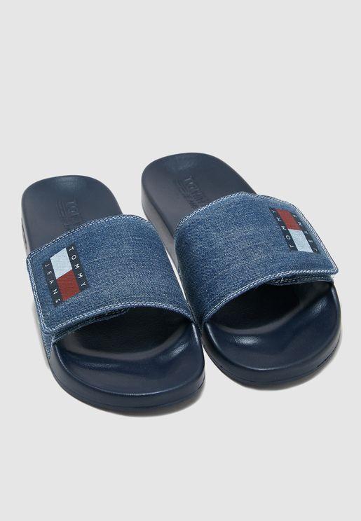 Tommy Jeans Denim Pool Slide