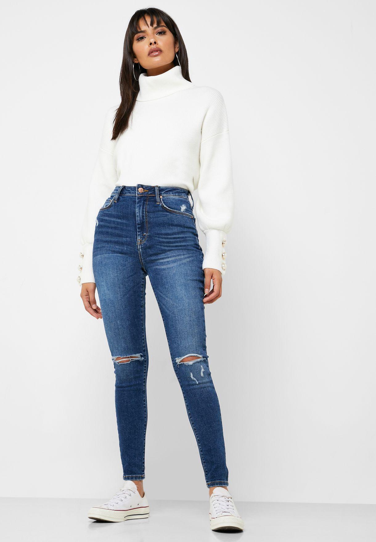 Distressed Super Skinny Jeans