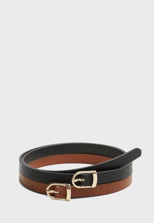 Fino Skinny Belt Set