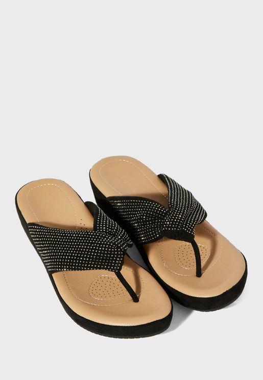 Y-Shape Low Heel Sandal