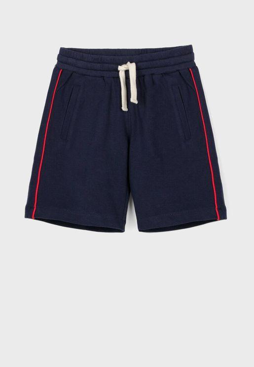 Kids Side Piping Shorts
