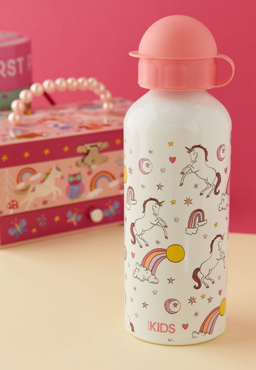 Aluminium Rainbow & Unicorn Drink Bottle - 600 ml
