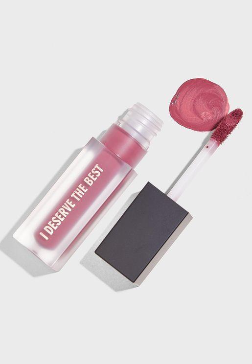 Deep Mauve Liquid Lipstick - I Deserve The Best