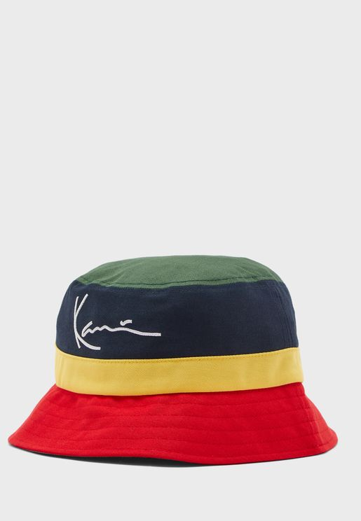 Signature Colour Block Bucket Hat