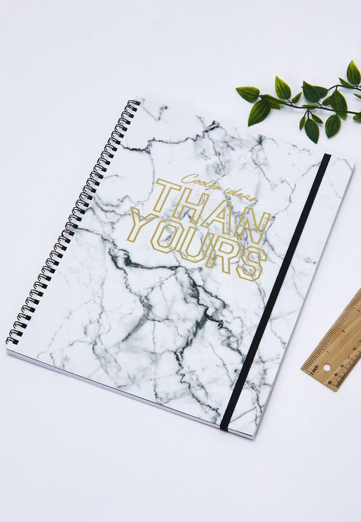 A4 Cooler Ideas Than You Marble Notebook