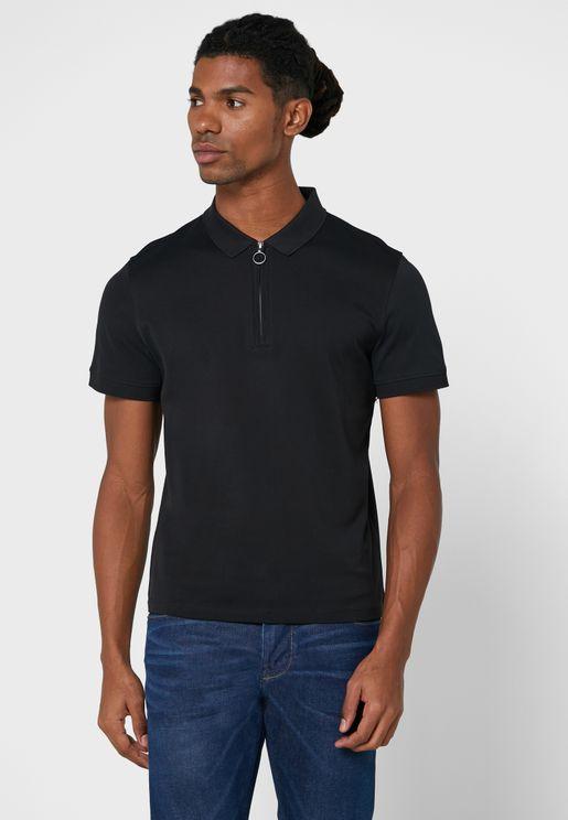 Mercerized Cotton Polo Shirt