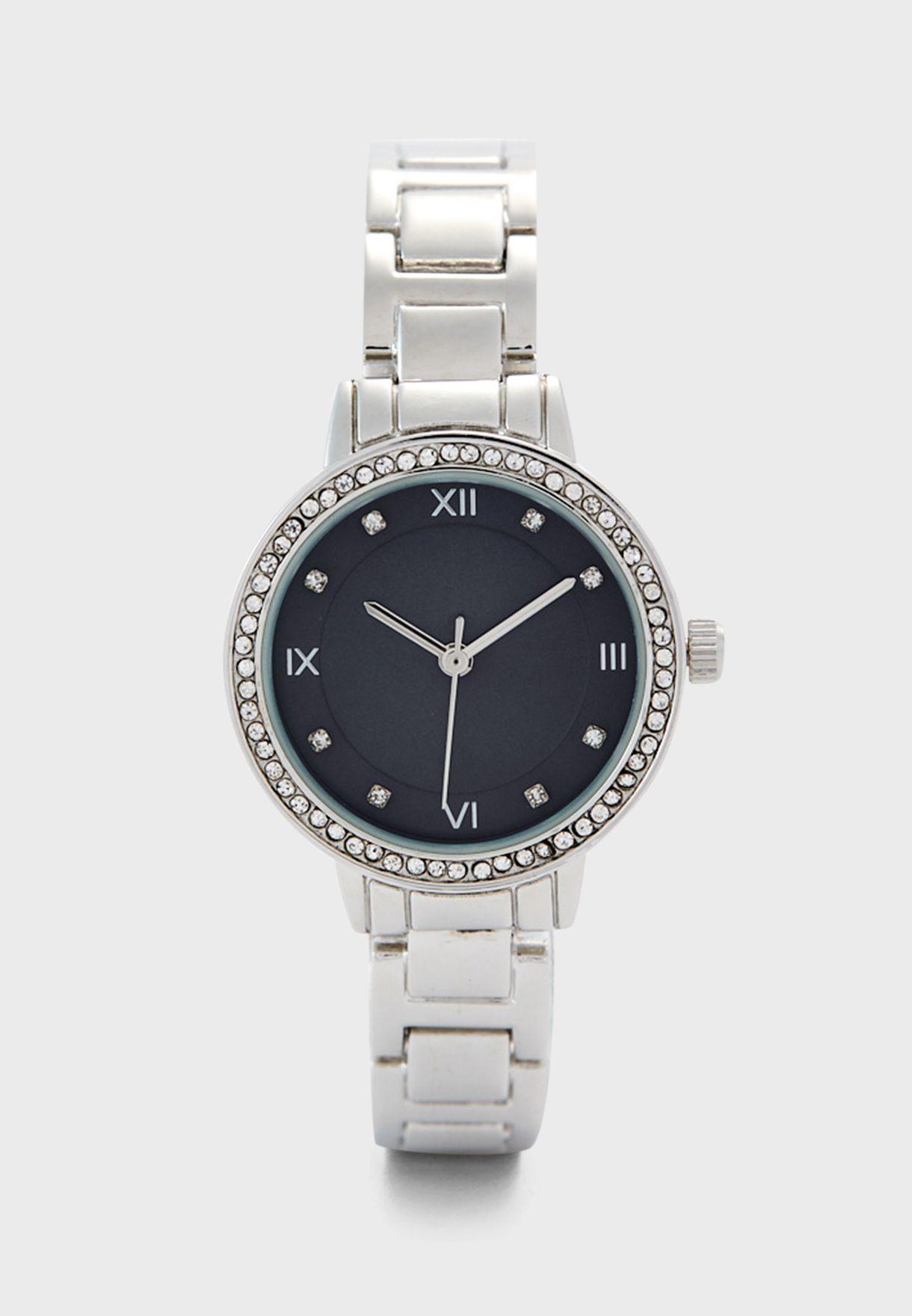 Stone Set Bracelet Watch