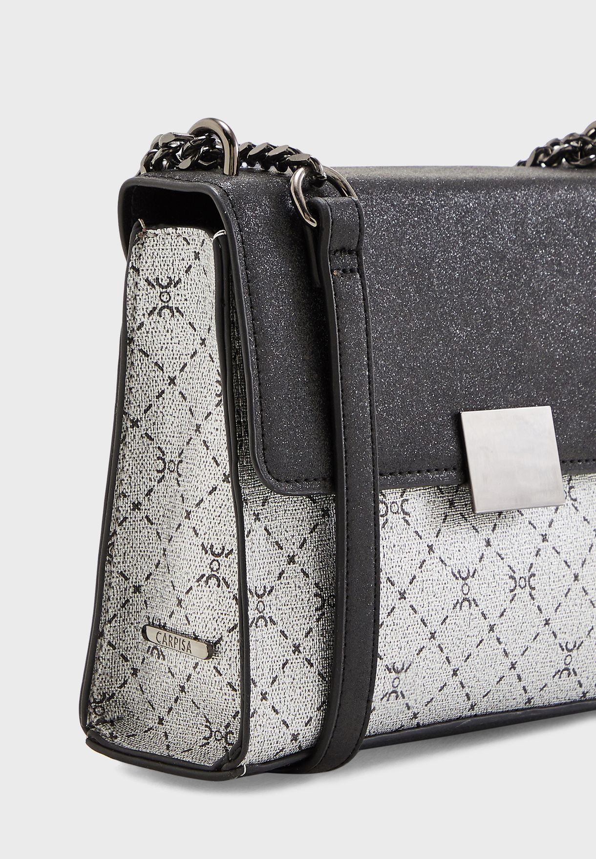 Chain Detail Quilted Crossbody