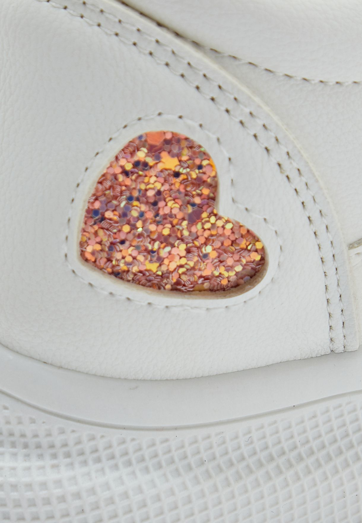 Glitter Detail Mid-Top Sneakers