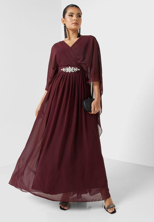 Embellished Waist Detail Dress