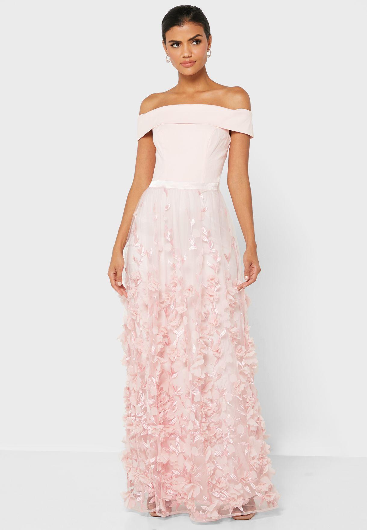 Maxine Bardot Lace Detail Dress