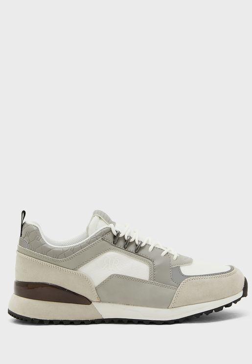 Mixed Material Runner Sneaker