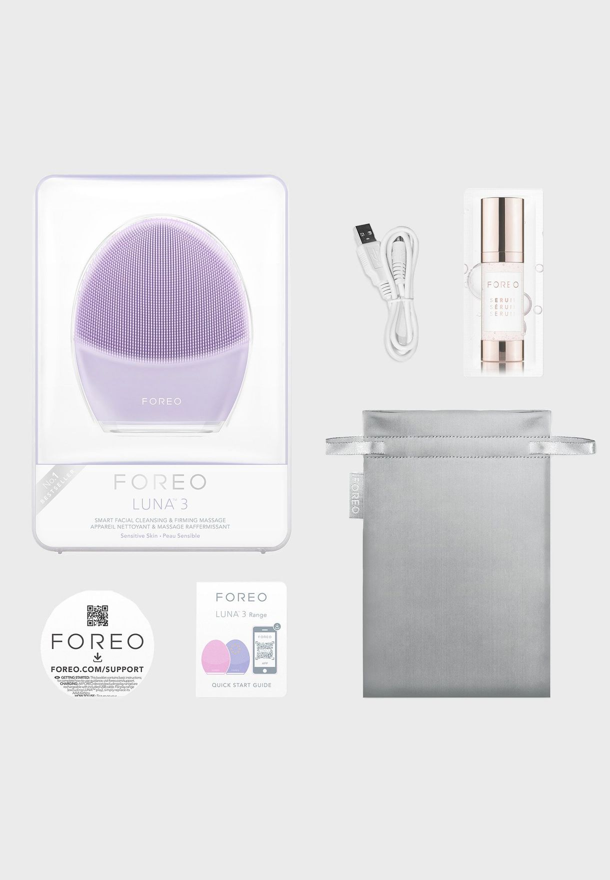 LUNA 3 Facial Cleansing Brush For Sensitive Skin