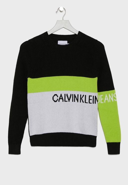 Kids Color Block Sweater