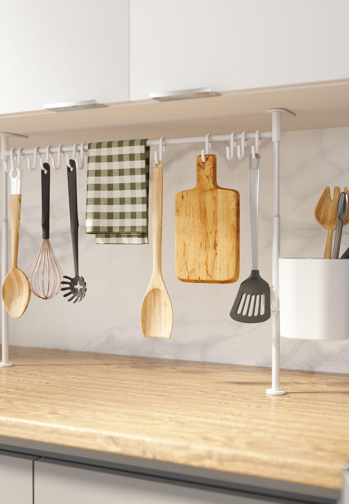 علبة تخزين مطبخية مع خطافات