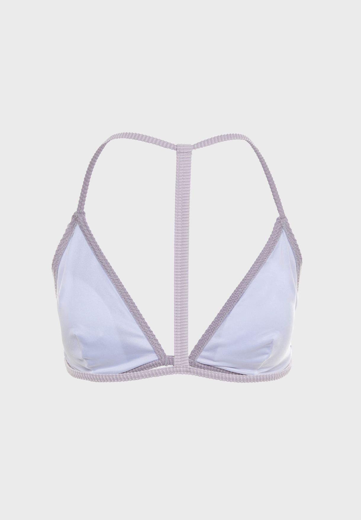 Rib Scoop Neck Bikini Top