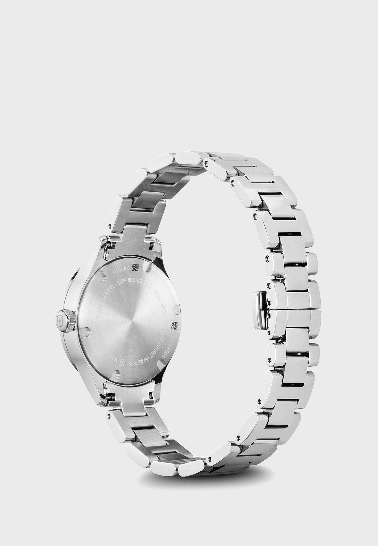 ساعة انالوج مزينة بالكريستال