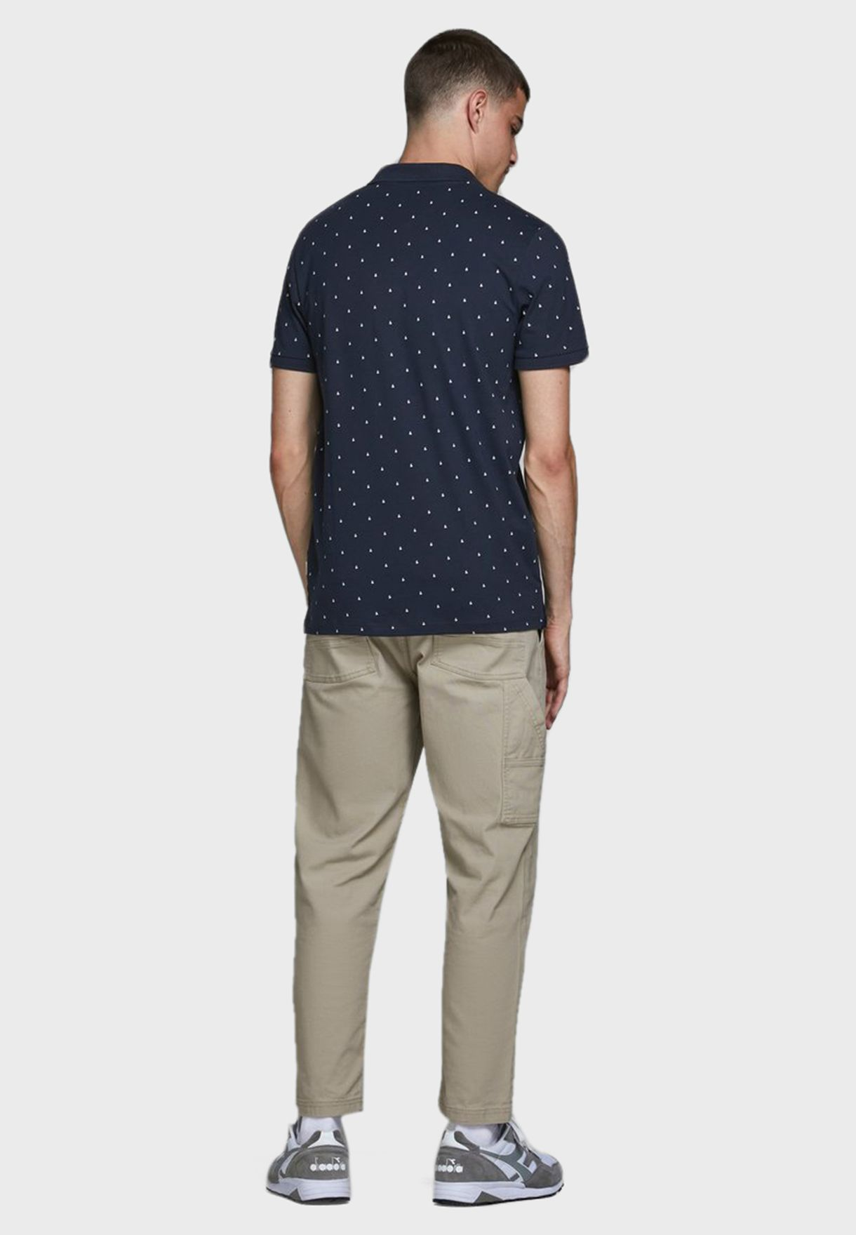 Dot Print Slim Fit Polo