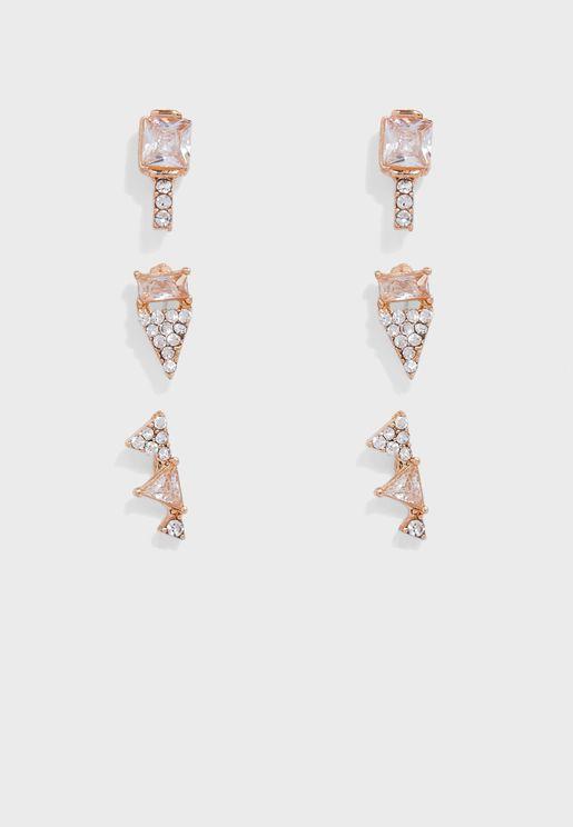 Fearia Pierced Earrings Set