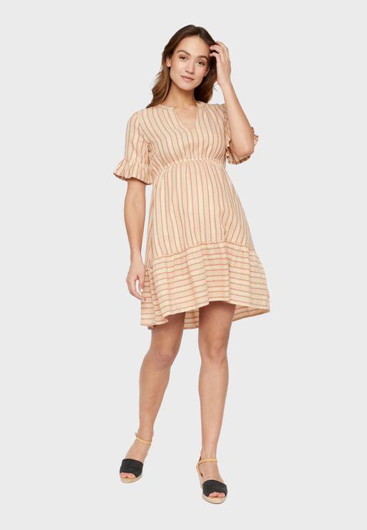 فستان مخطط