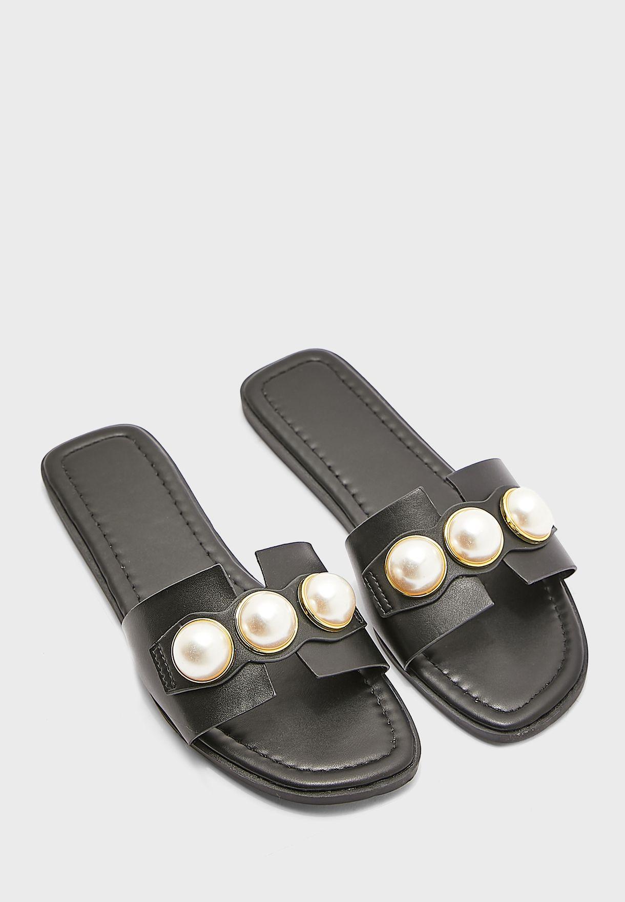 Pu Casual Flat Sandals