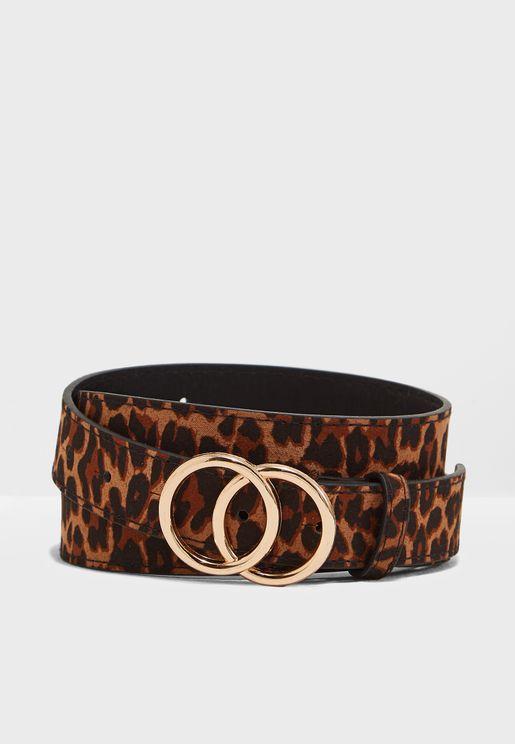 حزام بطبعات جلد حيوان