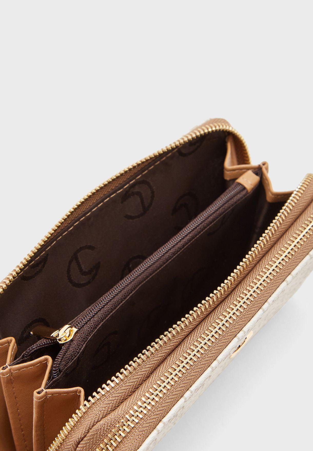 Textured Zip Around Purse