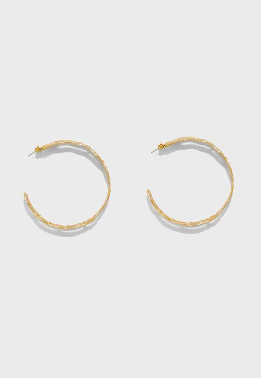 Neptis Embossed Hoop Earrings