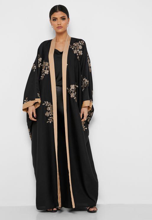 Leaf Applique Abaya