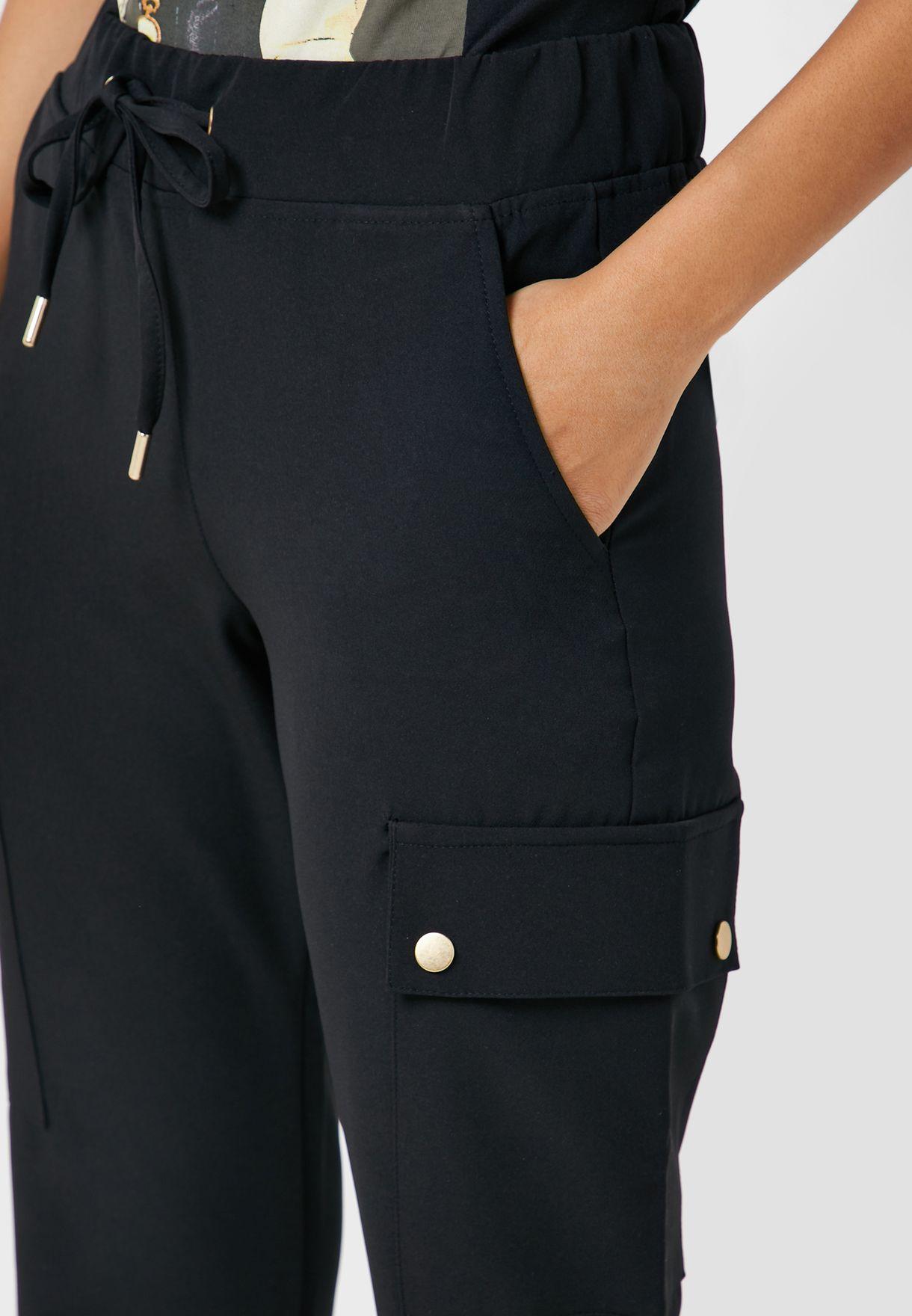 Tie Waist Cargo Pants