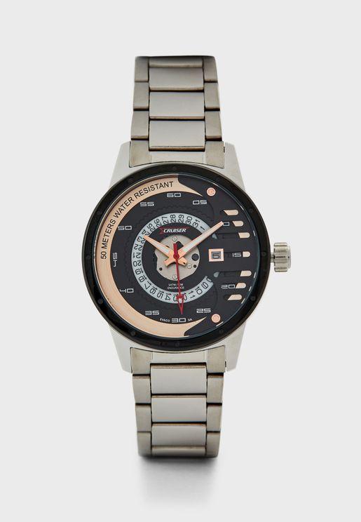 Steel Strap Racer Watch