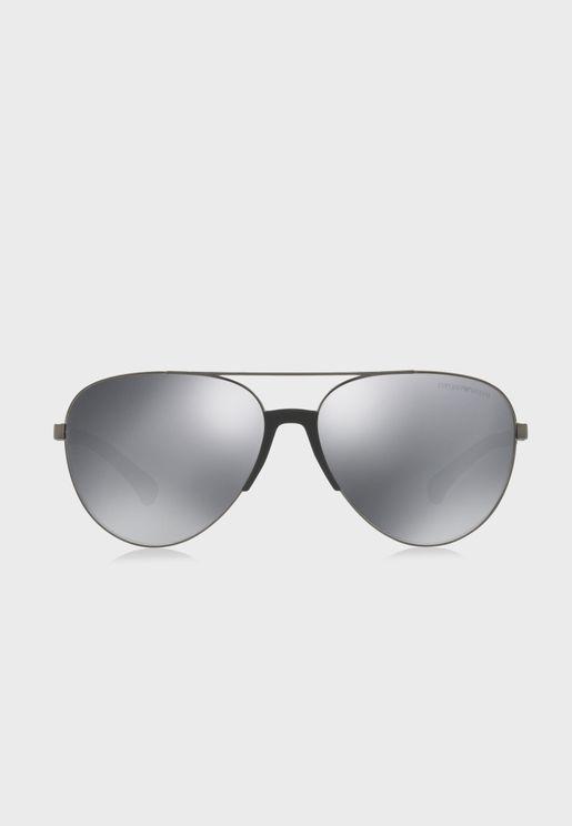 0EA2059 Aviator Sunglasses